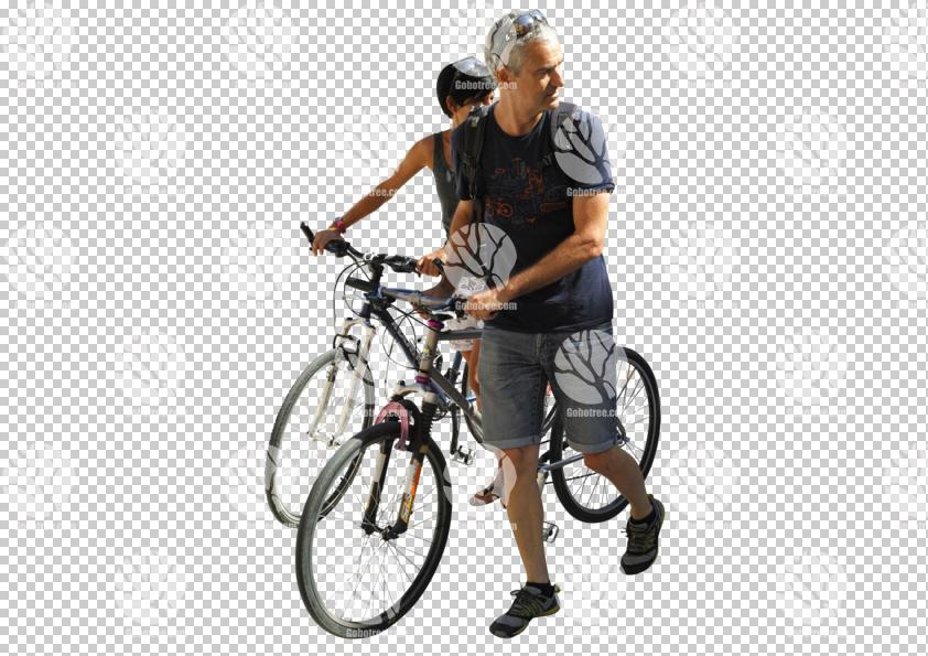 bicycle,casual,caucasian,couple,cutout,cutout couples,cutout people,cycling,day,direct sunlight,NA,natural light,people,pushing,summer,summer,sunlight,sunny,sunshine,three-quarter