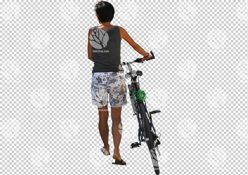 back,bicycle,casual,cutout,cutout people,cutout women,cycling,day,female,NA,natural light,people,pushing,summer,summer,sunlight,sunny,sunshine,woman