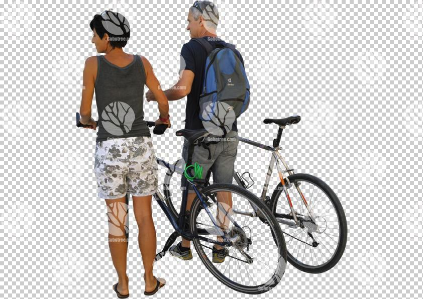 ambient light,back,bicycle,casual,caucasian,couple,cutout,cutout couples,cutout people,cycling,day,diffuse,diffused light,eye level view,natural light,people,standing,summer,summer,eye-level,ambient,summer,bicycle,standing,Caucasian,couple,casual,adult,back,3/4 back,greyscale,bag/briefcase,female,male